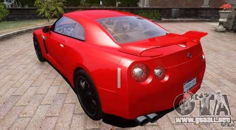 Nissan GTR R35 v1.0 para GTA 4 vista hacia atrás