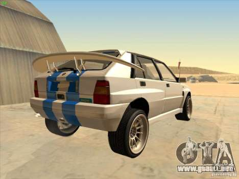 Lancia Integrale Evo para la visión correcta GTA San Andreas