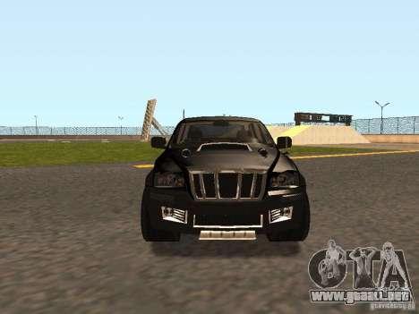 Jeep Grand Cherokee Black para GTA San Andreas left