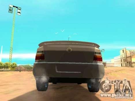 Chevrolet Astra Hatch 2010 para GTA San Andreas vista posterior izquierda