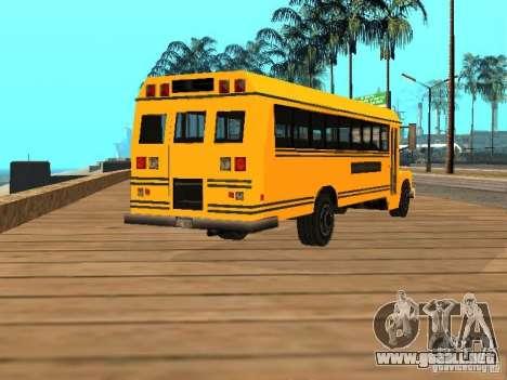 School bus para GTA San Andreas vista posterior izquierda