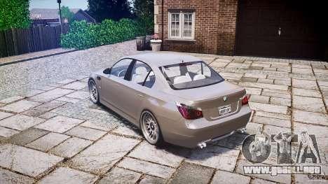 BMW E60 M5 2006 para GTA 4 Vista posterior izquierda