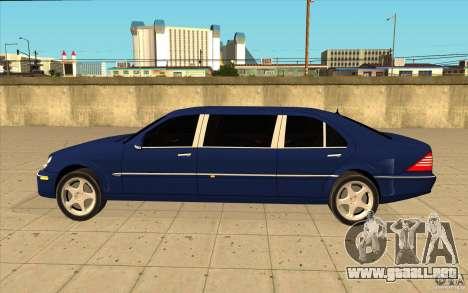 Mercedes-Benz S600 Pullman W220 para GTA San Andreas left