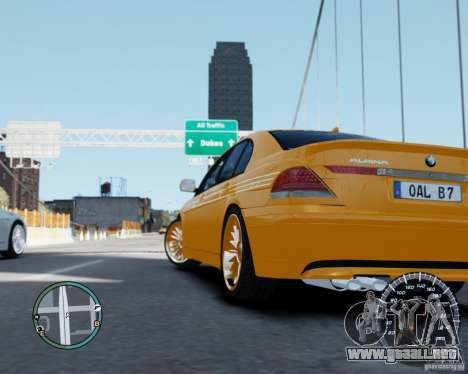 BMW Alpina B7 para GTA 4 left