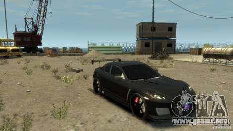 MAZDA RX8 para GTA 4 Vista posterior izquierda