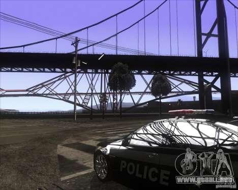 Enbsereis 0.74 Dark para GTA San Andreas segunda pantalla