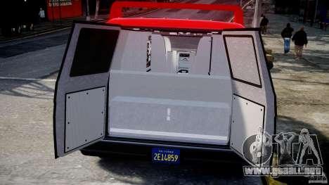 GMC Vandura A-Team Van 1983 para GTA 4 vista hacia atrás