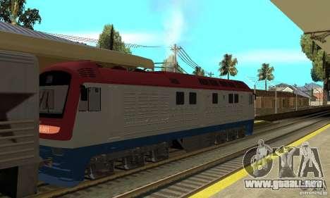 Locomotora diesel TÈP150-001 para GTA San Andreas vista posterior izquierda