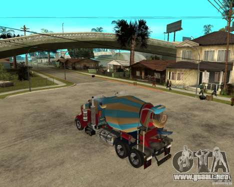 Kenworth W900 CEMENT TRUCK para GTA San Andreas left