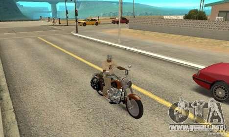 Harley Davidson FLSTF (Fat Boy) v2.0 Skin 2 para la visión correcta GTA San Andreas