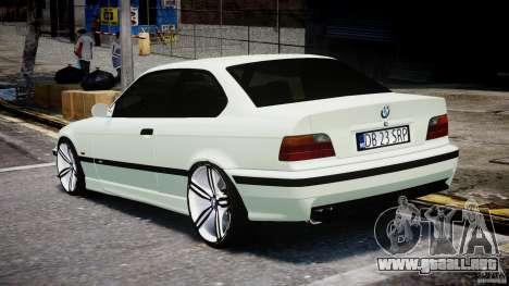 BMW e36 M3 para GTA 4 Vista posterior izquierda