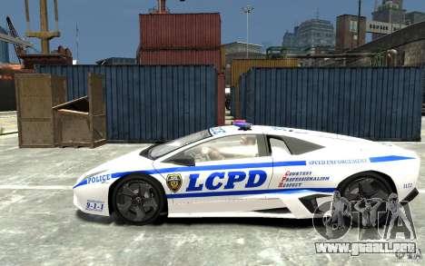 Lamborghini Reventon LCPD para GTA 4 left