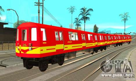 Liberty City Train Red Metro para GTA San Andreas