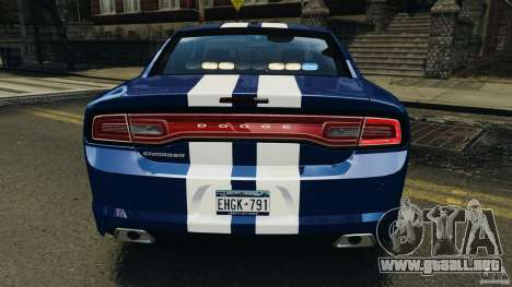 Dodge Charger Unmarked Police 2012 [ELS] para GTA motor 4