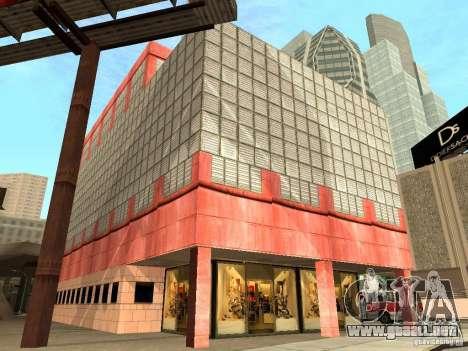 Nuevo centro de texturas Los Santos para GTA San Andreas novena de pantalla
