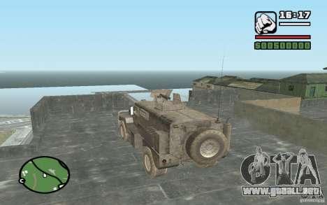 Camión militar para GTA San Andreas left