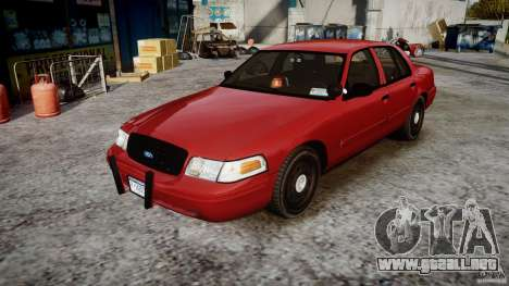 Ford Crown Victoria Detective v4.7 red lights para GTA 4