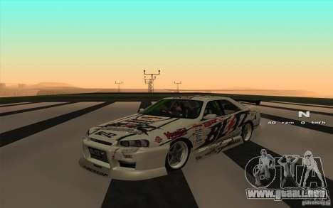 Nissan Skyline ER34 D1GP Blitz para GTA San Andreas