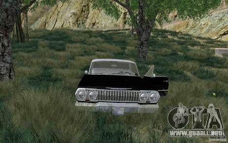 Chevrolet Impala 4 Door Hardtop 1963 para GTA San Andreas left