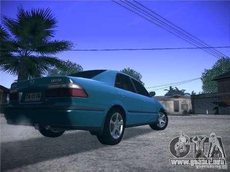 Mazda 626 GF 1999 para GTA San Andreas vista hacia atrás