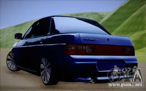 VAZ-2110 para GTA San Andreas vista posterior izquierda
