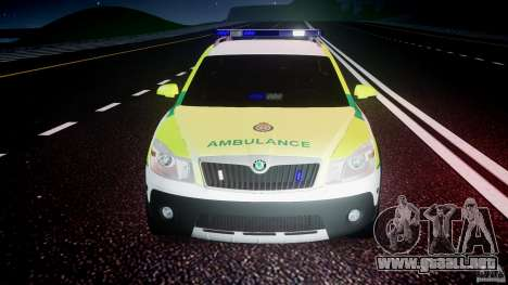 Skoda Octavia Scout Paramedic [ELS] para GTA 4 interior