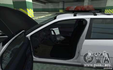 Chevrolet Impala 2003 SFPD para GTA San Andreas vista posterior izquierda