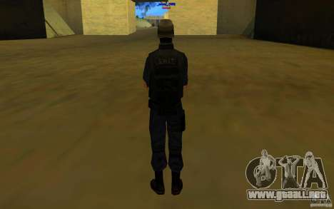 HQ skin S.W.A.T para GTA San Andreas sucesivamente de pantalla