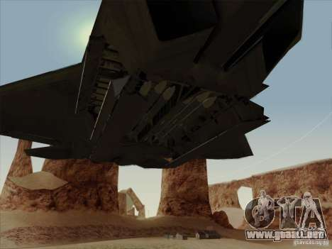 FA22 Raptor para vista lateral GTA San Andreas