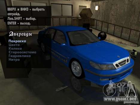 Saab 9-5 Aero Sedan para la vista superior GTA San Andreas