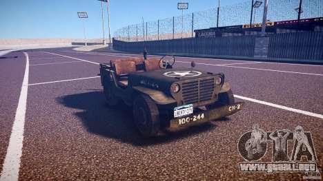 Walter Military (Willys MB 44) v1.0 para GTA 4 vista hacia atrás