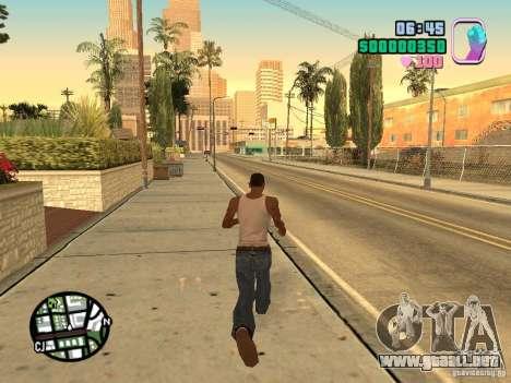 Vice City Hud para GTA San Andreas segunda pantalla