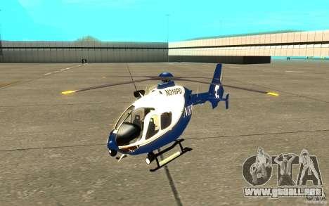 Eurocopter NYPD por SgtMartin_Riggs para GTA San Andreas left