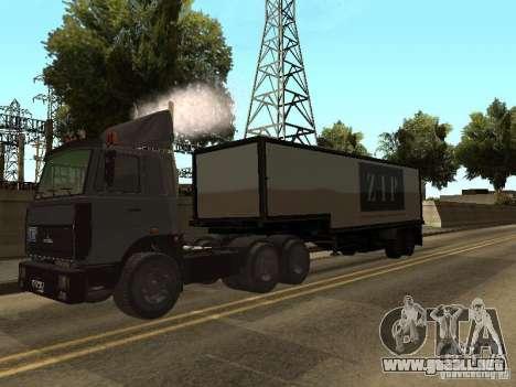 Camión MAZ 5336 para la visión correcta GTA San Andreas