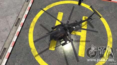 New AH-6 Little Bird para GTA 4 visión correcta