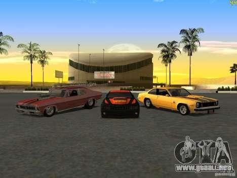 Chevrolet Camaro NOS para GTA San Andreas vista hacia atrás