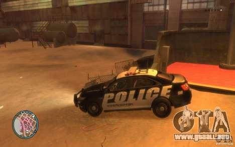 Ford Taurus Police para GTA 4 visión correcta