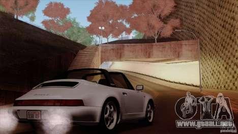 Porsche 911 Carrera 4 Targa (964) 1989 para vista inferior GTA San Andreas