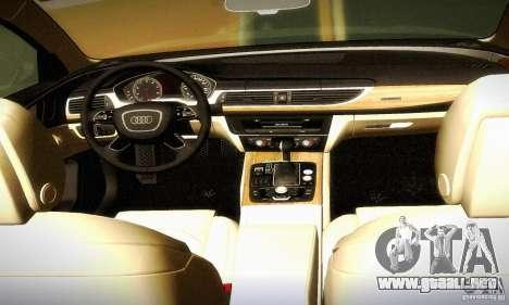 Audi A6 2012 para la vista superior GTA San Andreas