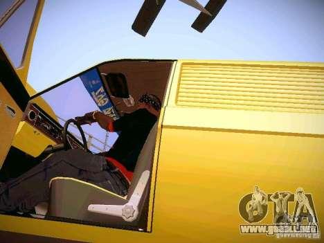 Volga GAZ-24 02 Van para visión interna GTA San Andreas