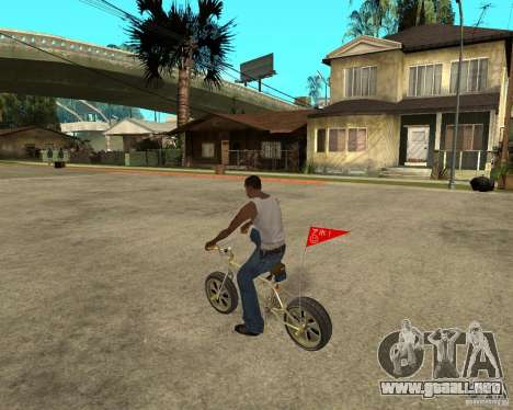 WideWheel-BMX 1 LOUIS VUITTON Version para GTA San Andreas left
