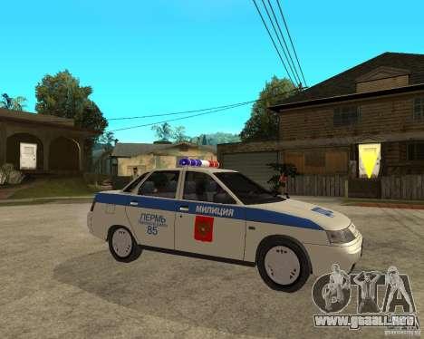 LADA 21103 DPS para la visión correcta GTA San Andreas
