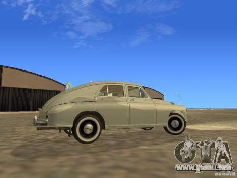 GAZ M20 Pobeda 1949 para visión interna GTA San Andreas