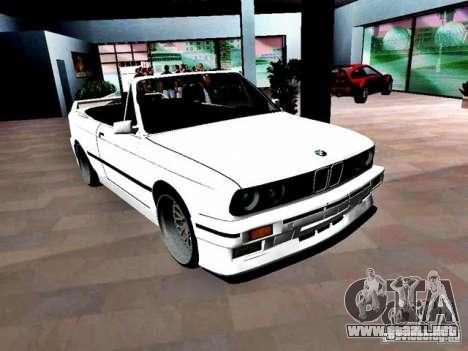 BMW M3 E30 Cabrio para GTA Vice City visión correcta
