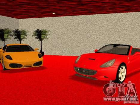 Nuevo Showroom de Ferrari en San Fierro para GTA San Andreas novena de pantalla