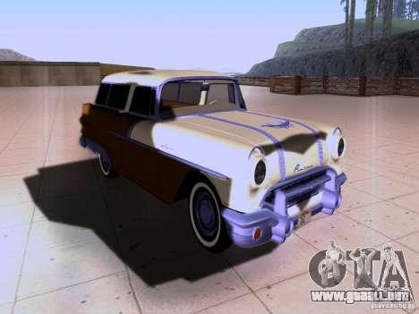 Pontiac Safari 1956 para GTA San Andreas vista hacia atrás