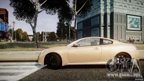 Infiniti G37 Coupe Sport para GTA 4 Vista posterior izquierda
