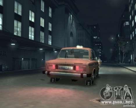 Taxi 2106 VAZ para GTA 4 visión correcta