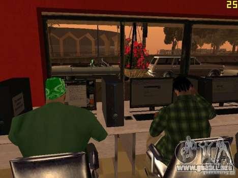 Ganton Cyber Cafe Mod v1.0 para GTA San Andreas sucesivamente de pantalla