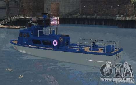 Coast Guard Patrol para GTA 4 Vista posterior izquierda